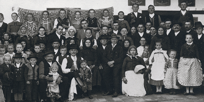 Hungarian wedding party from 1930s