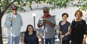 Group of Second Sense Clients -- all adults with vision loss