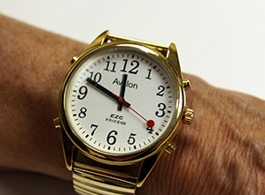 Talking watch with a large face