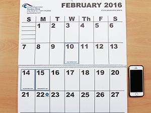 Large Print Wall Calendar