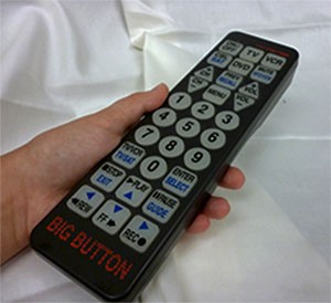 Remote offer large, lighted buttons