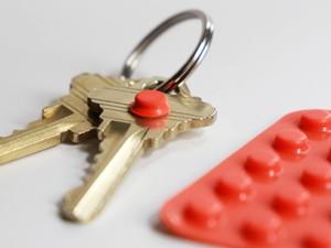Orange Bump Dots with Keys
