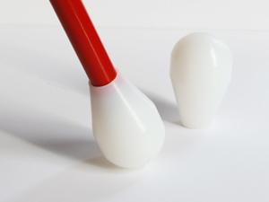 Slip-on teardrop cane tip