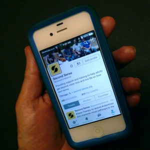 Twittter App open on the iPhone
