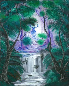 Painting of an enchanted forest
