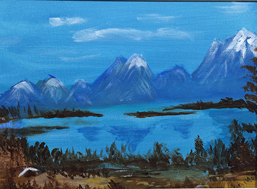 Painting of the Grand Tetons National Park