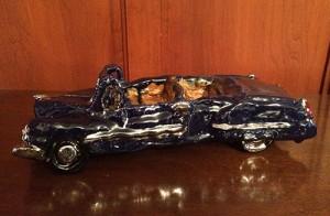 Clay model of a 1949 Cadillac