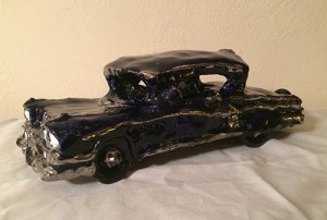 Clay model of a 1957 Chevy Impala