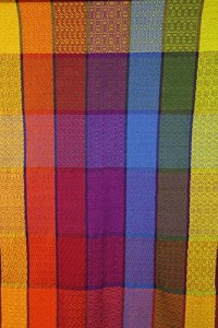 Colorful textile wall hanging