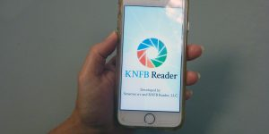 iPhone with the KNFB Reader app
