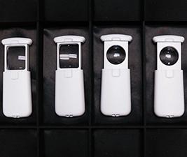 Display of slide magnifiers